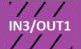 IN3/OUT1 - lila schwarz