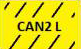 CAN2 L - gelb schwarz
